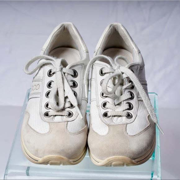 Ecco Shoes | Ecco Suede Cream White